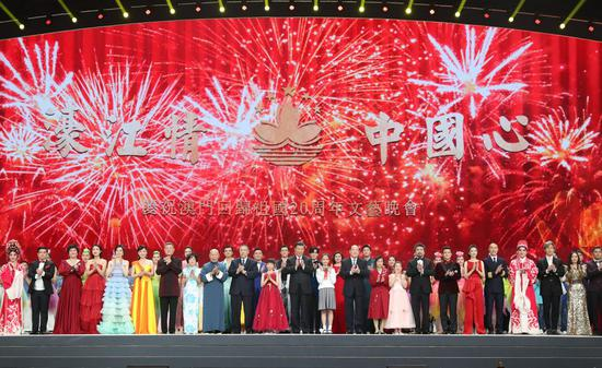 Chinese President Xi Jinping attends a grand gala in celebration of the 20th anniversary of Macao's return to the motherland in Macao, south China, Dec. 19, 2019. (Xinhua/Huang Jingwen)