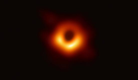 Photo provided by the Event Horizon Telescope (EHT) shows the first image of the black hole. (Xinhua/EHT)