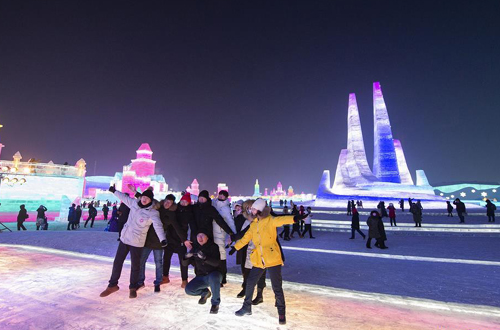 China's largest snow-ice theme park opens