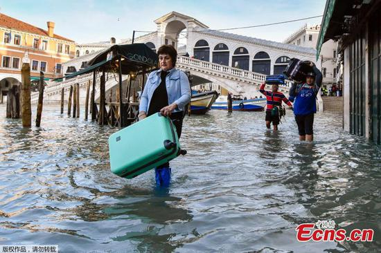 Venice hit by 'exceptional' new flooding weeks