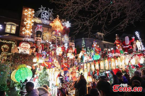 Christmas Village in Dyker heights of Brooklyn, New York