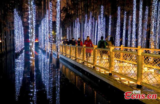 Light festival opens in Wuhan