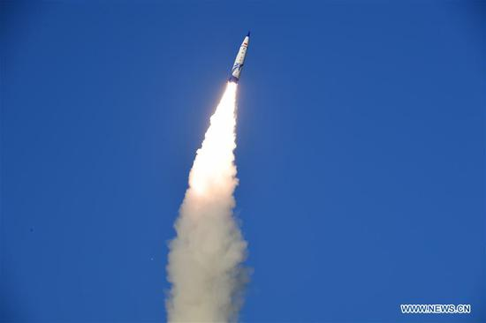 Commercial suborbital carrier rocket launched in China