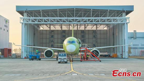 Sixth prototype of C919 aircraft makes debut flight