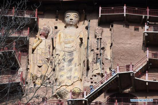 Maiji Mountain Grottoes in Tianshui, China's Gansu
