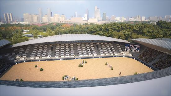 China's first permanent equestrian competition zone begins construction