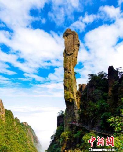 The 128-meter-tall rock named