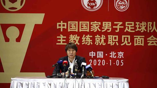 New head coach of Chinese national men's football team Li Tie holds first press conference
