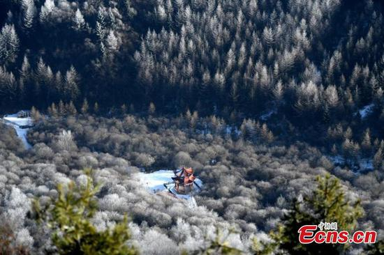 Rime scenery in NW China's Gansu Province
