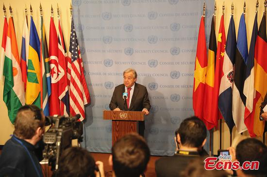 UN chief warns of 'profound risk of miscalculation' amid recent rise in global tensions