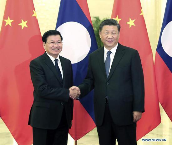 Xi says China, Laos enjoy shared future