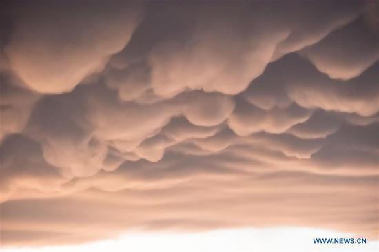 Mammatus clouds over Guiyang