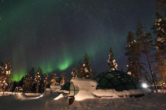 The Aurora views in Lapland, northern Finland. (Xinhua/Li Jizhi)