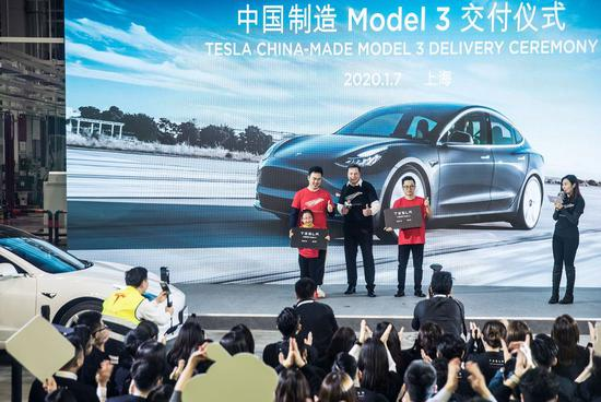 Made-in-China Tesla vehicles delivered to customers