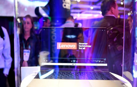 Photo taken on Jan. 8, 2020 shows the world's first 5G personal computer launched by Lenovo during the 2020 Consumer Electronics Show (CES) in Las Vegas, the United States. (Xinhua/Wu Xiaoling)