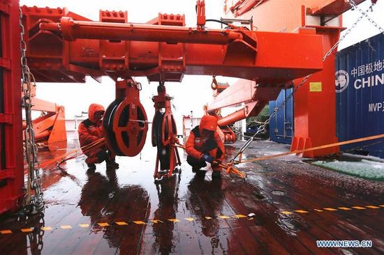China's icebreaker to travel through 'roaring forties' from Cosmonauts Sea