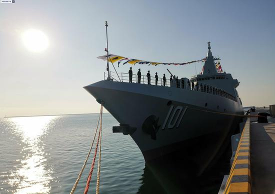 China's first Type 055 destroyer Nanchang commissioned