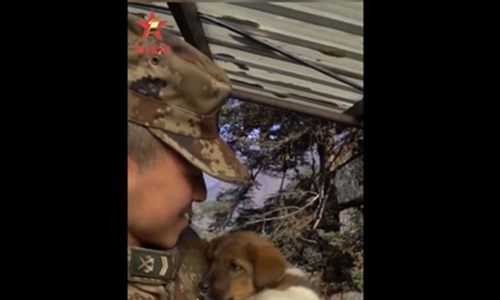 Soldiers at remote border post adopt best friends