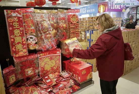 People in Canada shop for upcoming Spring Festival
