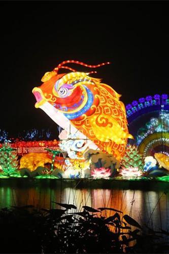 Lantern show in Nantong, Jiangsu