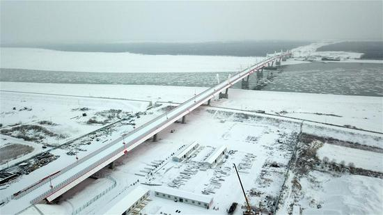 China-Russia highway bridge ready for opening