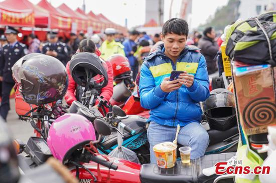 'Motorbike fleets' for Spring Festival reunion