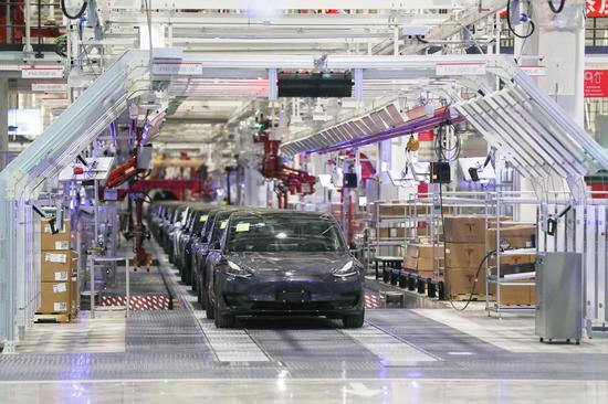 Shanghai-built Tesla popular in China after new tax break