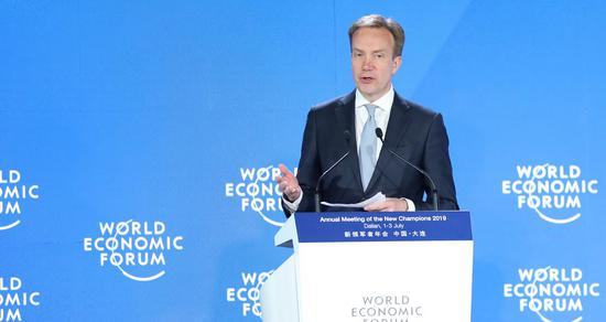 WEF president praises China's poverty reduction progress, urges multilateralism