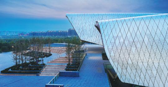 The National Maritime Museum of China is a modern complex designed by the Australian company Cox Architecture and the Tianjin Architecture Design Institute. (PHOTOS PROVIDED TO CHINA DAILY)