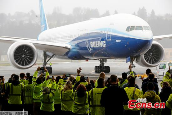 Boeing completes maiden flight of new 777X passenger jet