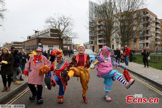 Memorial for Britain's best known clown
