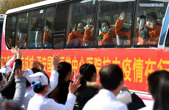 Medical team from Xi'an sets off to aid coronavirus control efforts in Wuhan