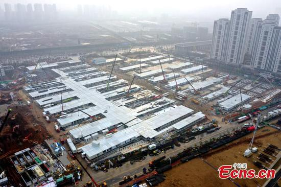 Leishenshan Hospital in Wuhan is 80% complete