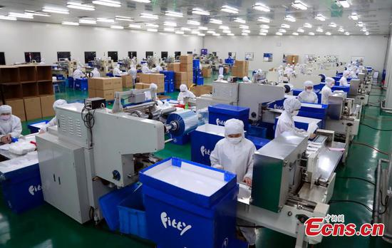 Shanghai facial mask factories increase production