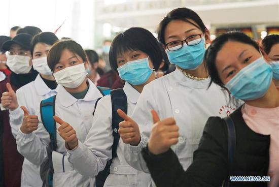 Medical workers set off to aid coronavirus control efforts in Hubei