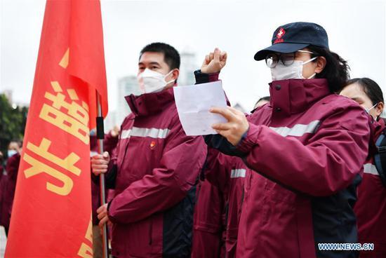 100 clinical nurses in Fujian leave for Wuhan to aid novel coronavirus control
