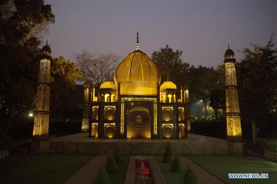 Replicas of seven world wonders at public park in New Delhi