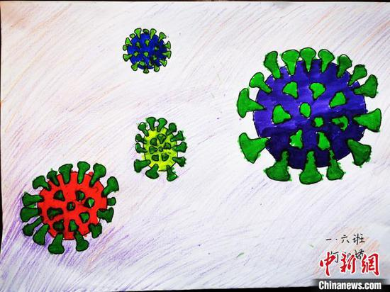 'War against novel coronavirus' in children's paintings