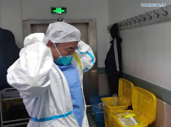 Pic story of medical staff in isolation wards in Wuhan