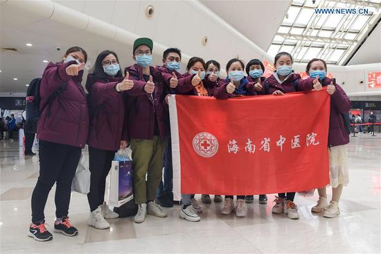 Medical teams leave for Wuhan