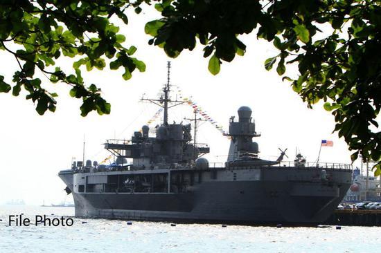 U.S. 7th Fleet's flagship visits S.Korean port city
