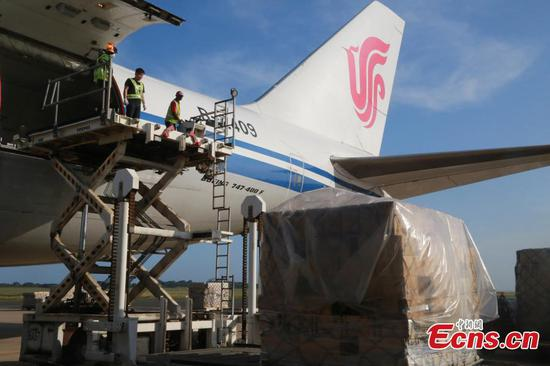Air China plane picks up medical supplies in South Africa