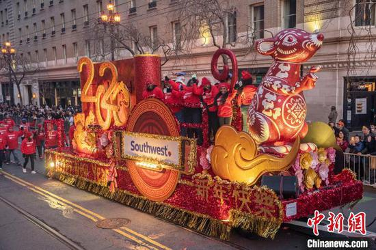 San Francisco holds grand parade to ring in Year of Rat