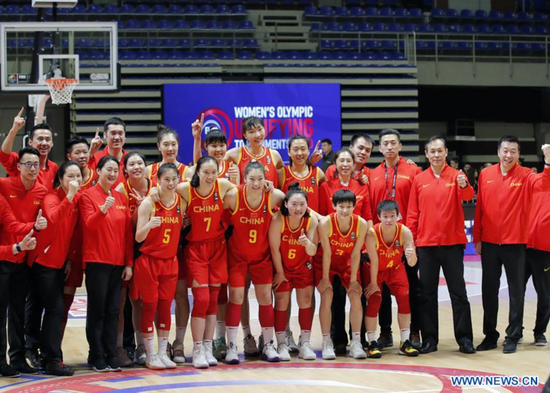 China finish women's Olympic basketball qualifiers with perfect 3-0