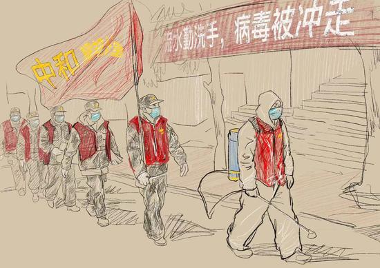 湖南学生以艺术品向包括他父亲在内的卫生工作者致敬