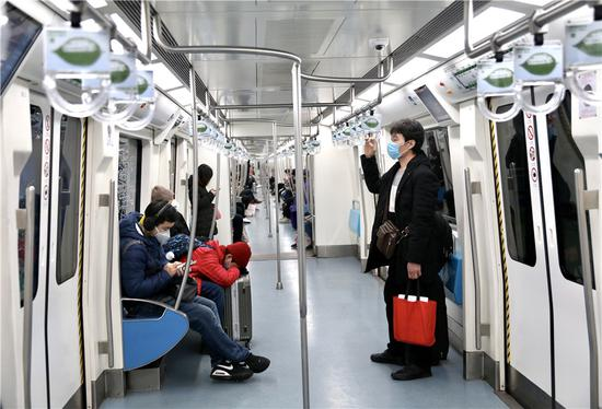 北京的地铁在第一个工作日稀薄