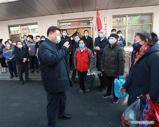 Xi inspects novel coronavirus prevention, control work in Beijing