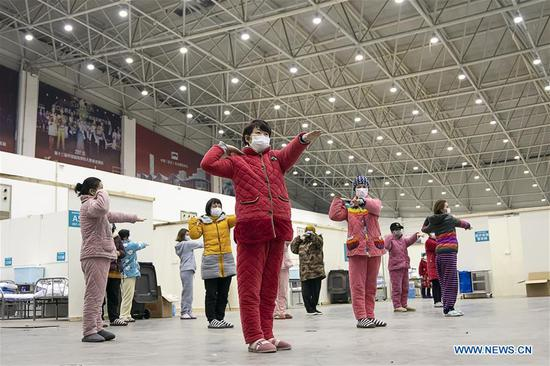 In pics: temporary hospital in Wuhan