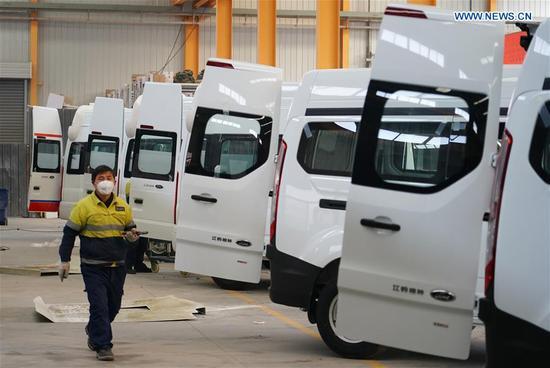 Auto company resumes negative pressure ambulance production for fight against novel coronavirus