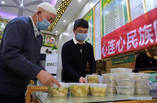 Citizen supplies free food for workers fighting novel coronavirus in Nanchang
